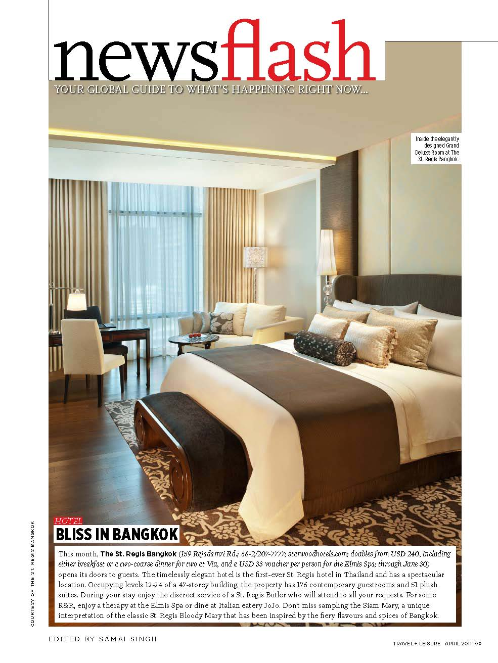 Travel + Leisure South Asia April Issue
